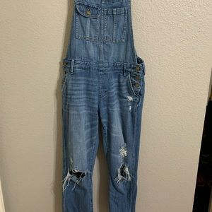A&F distressed overall